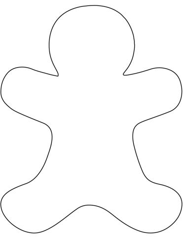 muñeco de jengibre para dibujar